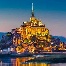 Mont Saint-Michel nuit Breizhcab Limousine VTC Rennes en Bretagne