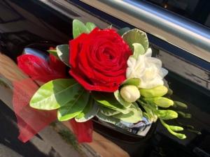 Décoration florale Mariage VTC Rennes Breizhcab Limousine
